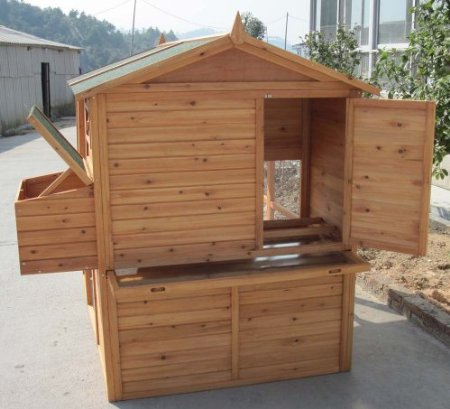 Poulailler spacieux dortoir sur lev pour 2 6 poules - Poulailler en kit plastique ...